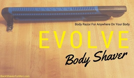 folded blue and black evolve body shaver