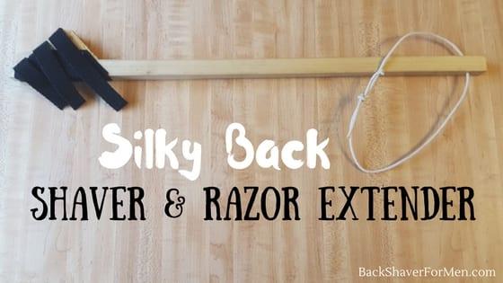 wooden silky back back shaver