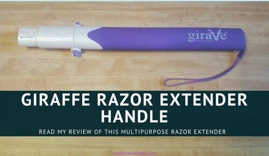 giraffe razor extender handle purple and white