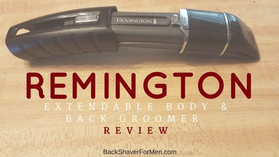 black remington extendable body and back groomer