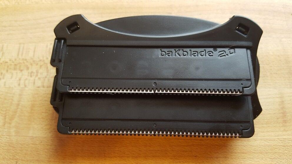 closeup of bakblade 2.0 shaver head