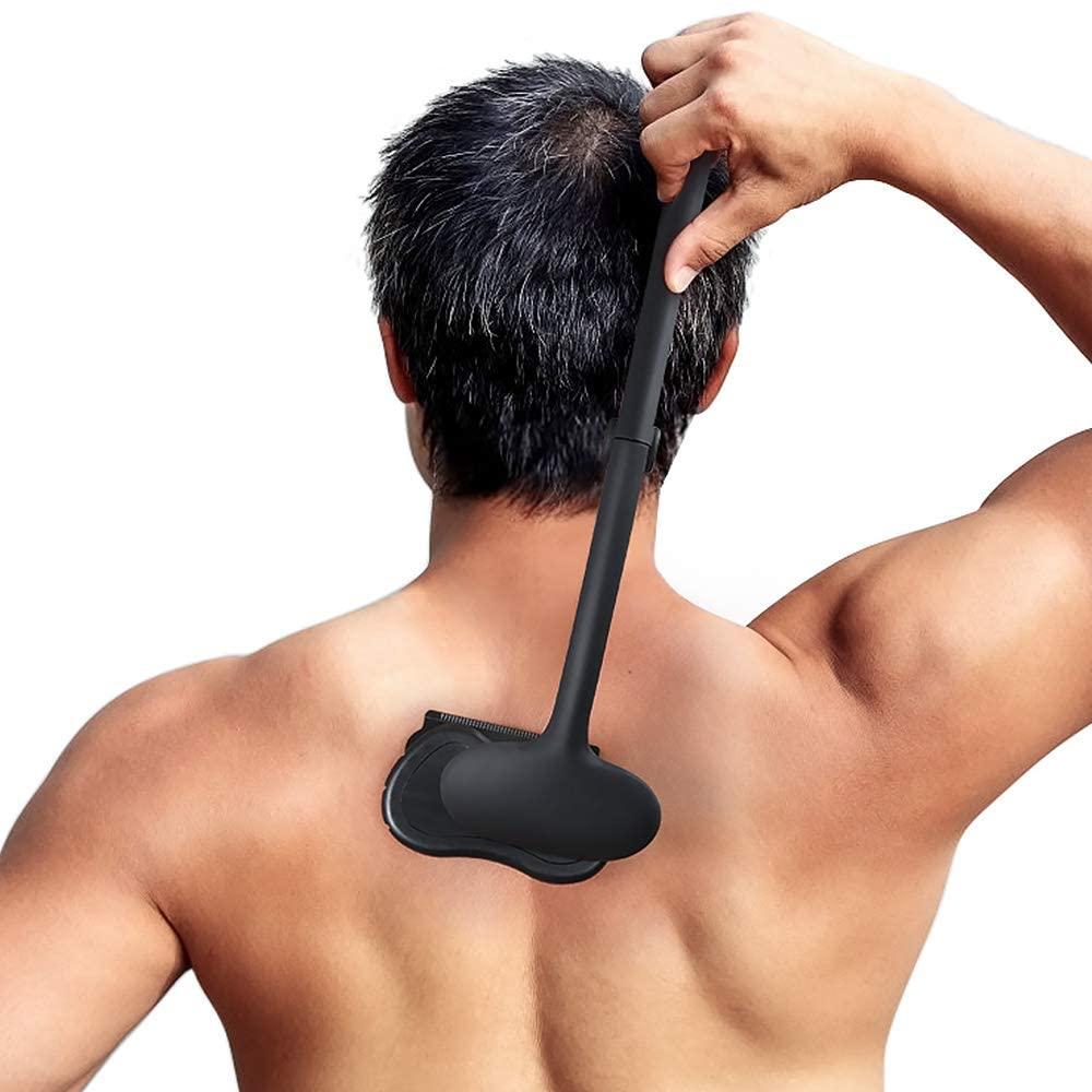 man using liberex back shaver