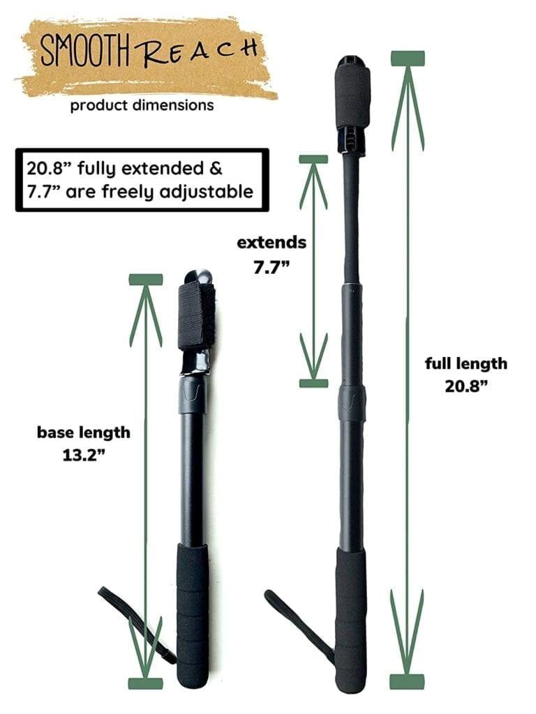 smooth reach handle lengths short long