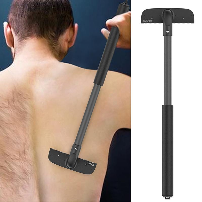 man shaving back with xpreen