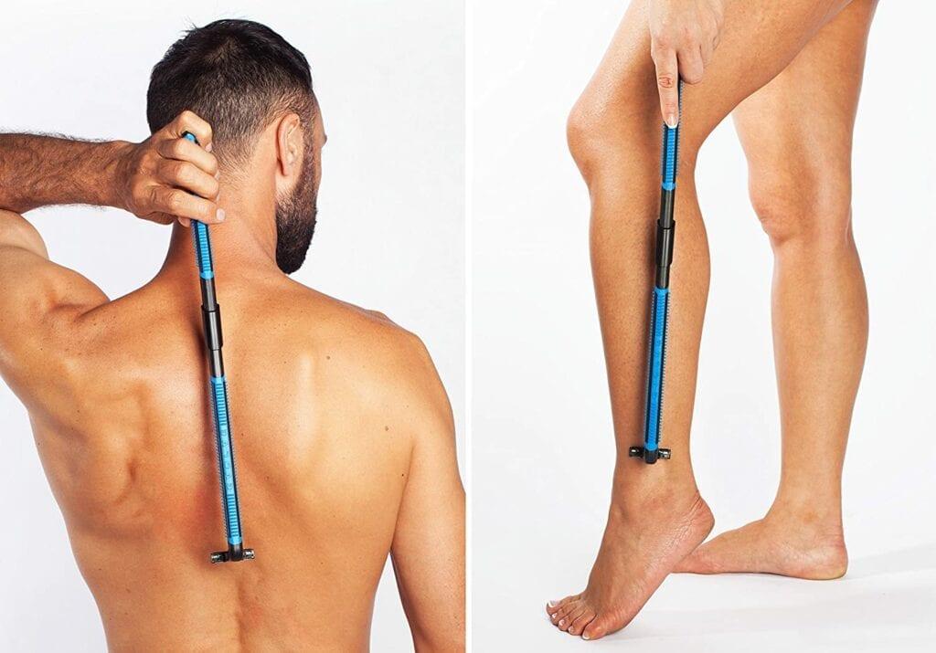 man and women using evolve body razor