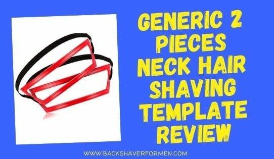2 pieces neck hair template