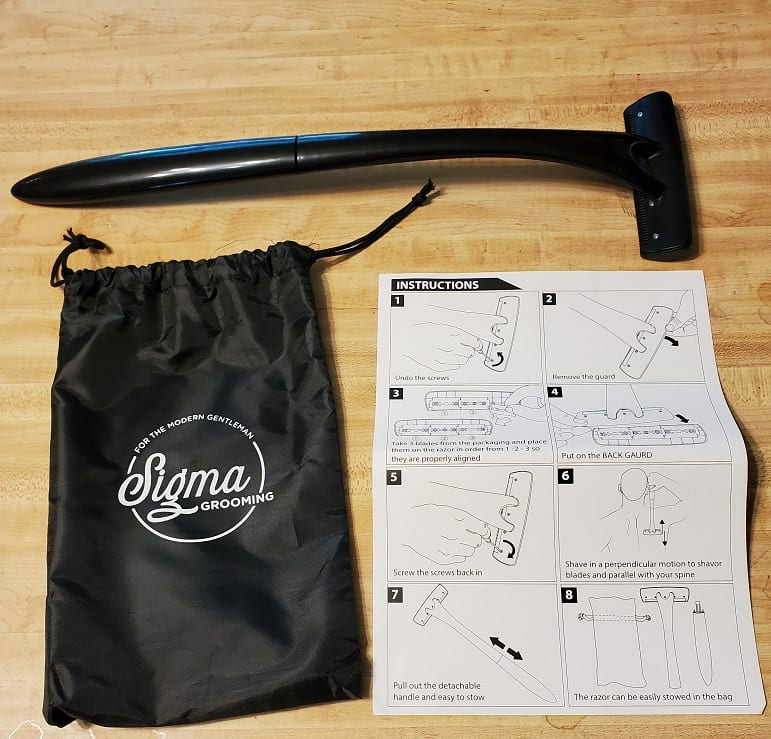 everything included with back shaver