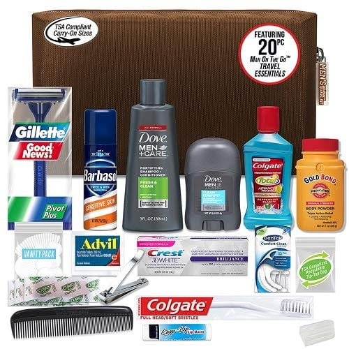 travel size hygiene products
