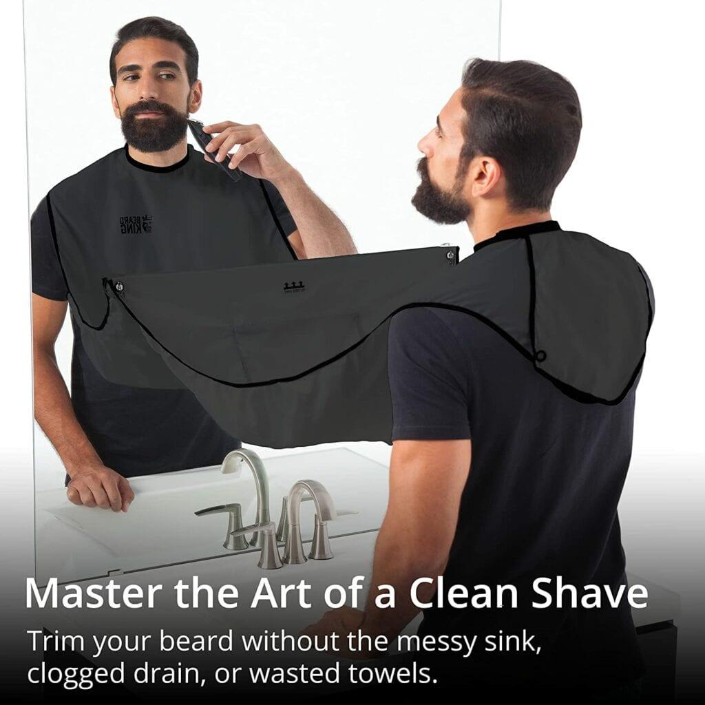 man using beard king bib